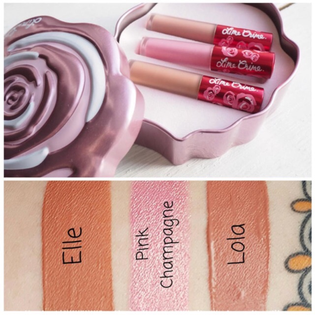 Set Son Lime Crime Valentine Box hồng 0