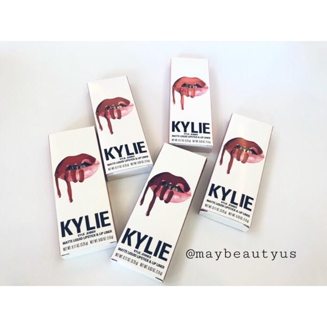 [ GOM SALE 50% ] Set son kem + chì môi Kylie Li0