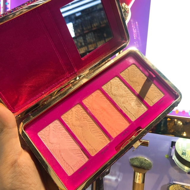 Set Má hồng ví cầm tay Tarte Life Of The Party Clay Blush Palette1