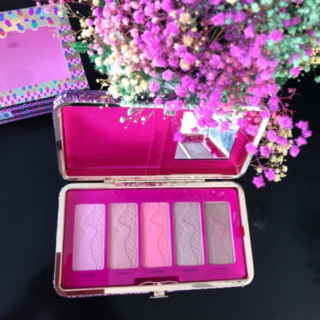 Set Má hồng ví cầm tay Tarte Life Of The Party Clay Blush Palette0